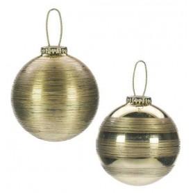 Lot de 2 boules de Noël brossées