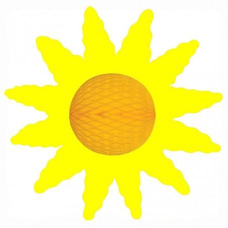 soleil papier gaufré