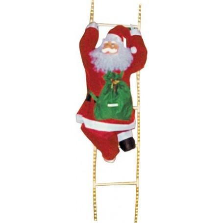 Père-Noël sur échelle