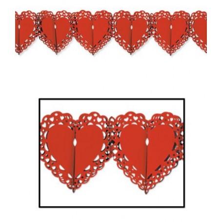 Guirlande dentelle coeur
