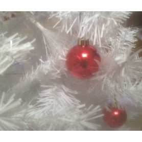 Lot 24 boules rouges de Noel 5 cm
