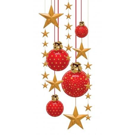 Décors de Noël rouge