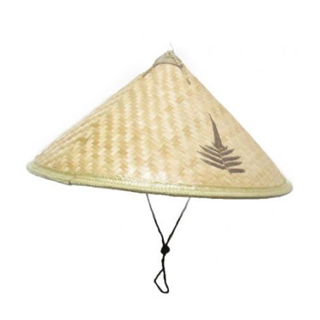 Chapeau en osier chinois