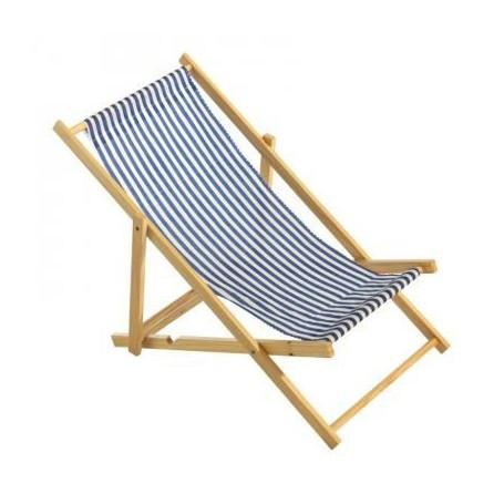 Chaise longue bois et tissus