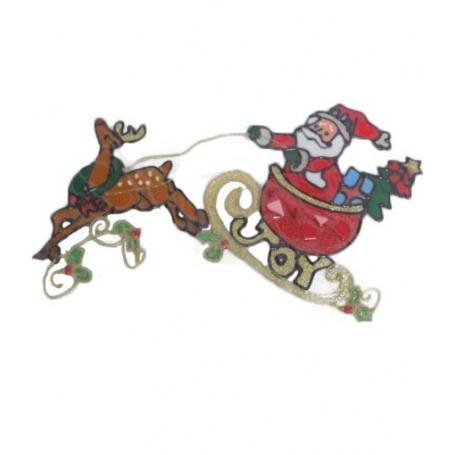 Sticker Père-Noël et traineau