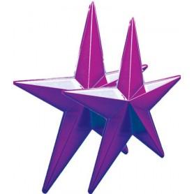Lot 2 étoiles violettes
