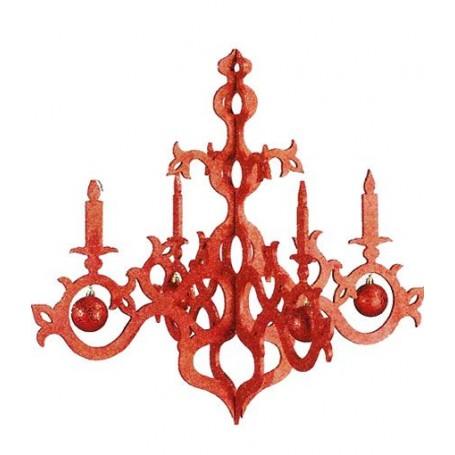 Chandelier rouge