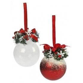 Boule de Noël avec nœud et ruban