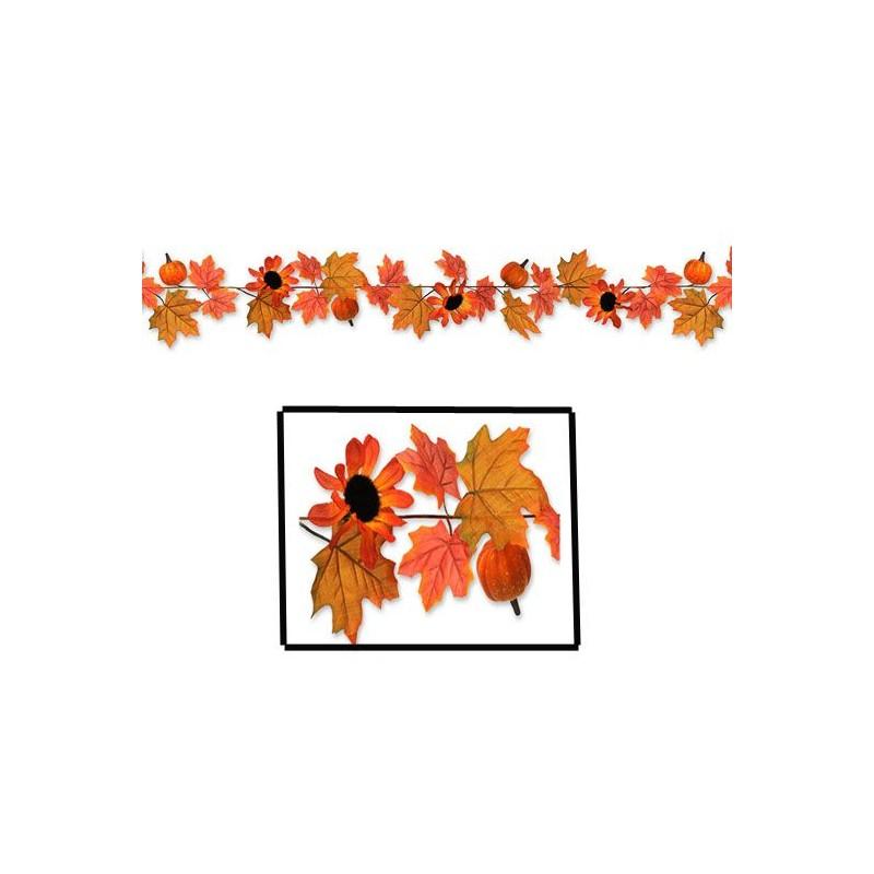 Guirlande citrouille et feuilles