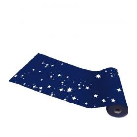 Jupe tête de gondôle bleu étoiles blanches