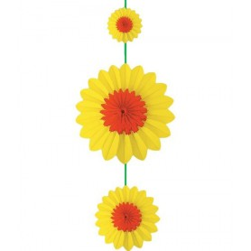 Guirlande de fleurs papier