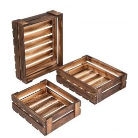 Lot 3 casiers bois