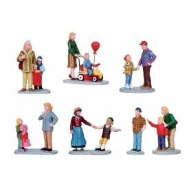 ASSORTIMENT DE 8 FIGURINES COLLECTION LEMAX