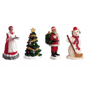 ASSORTIMENT DE 4 FIGURINES COLLECTION LEMAX