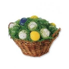 Corbeille avec oeufs de Pâques