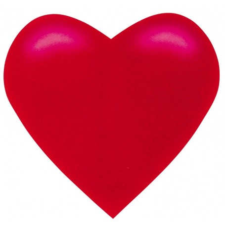 Coeur rouge carton à suspendre 38 cm