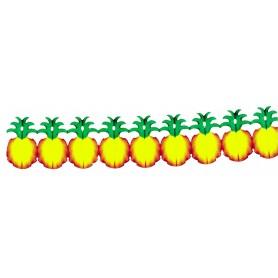 Guirlande ananas papier gaufré, 3.60m
