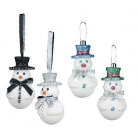 Set de 4 bonhommes de neige