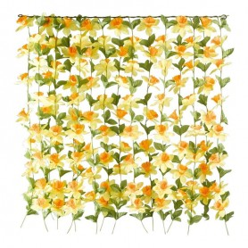 Rideau de fleurs en soie artificielle
