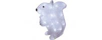 Figurines et animaux lumineux  pour décor et vitrine de Noël -