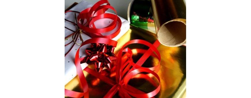 Emballage, papier cadeaux, noeud, ruban, ficelle